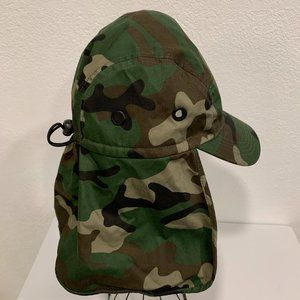 S.W. Camouflage Hat Camo Cap w/ Ear and Neck Flap